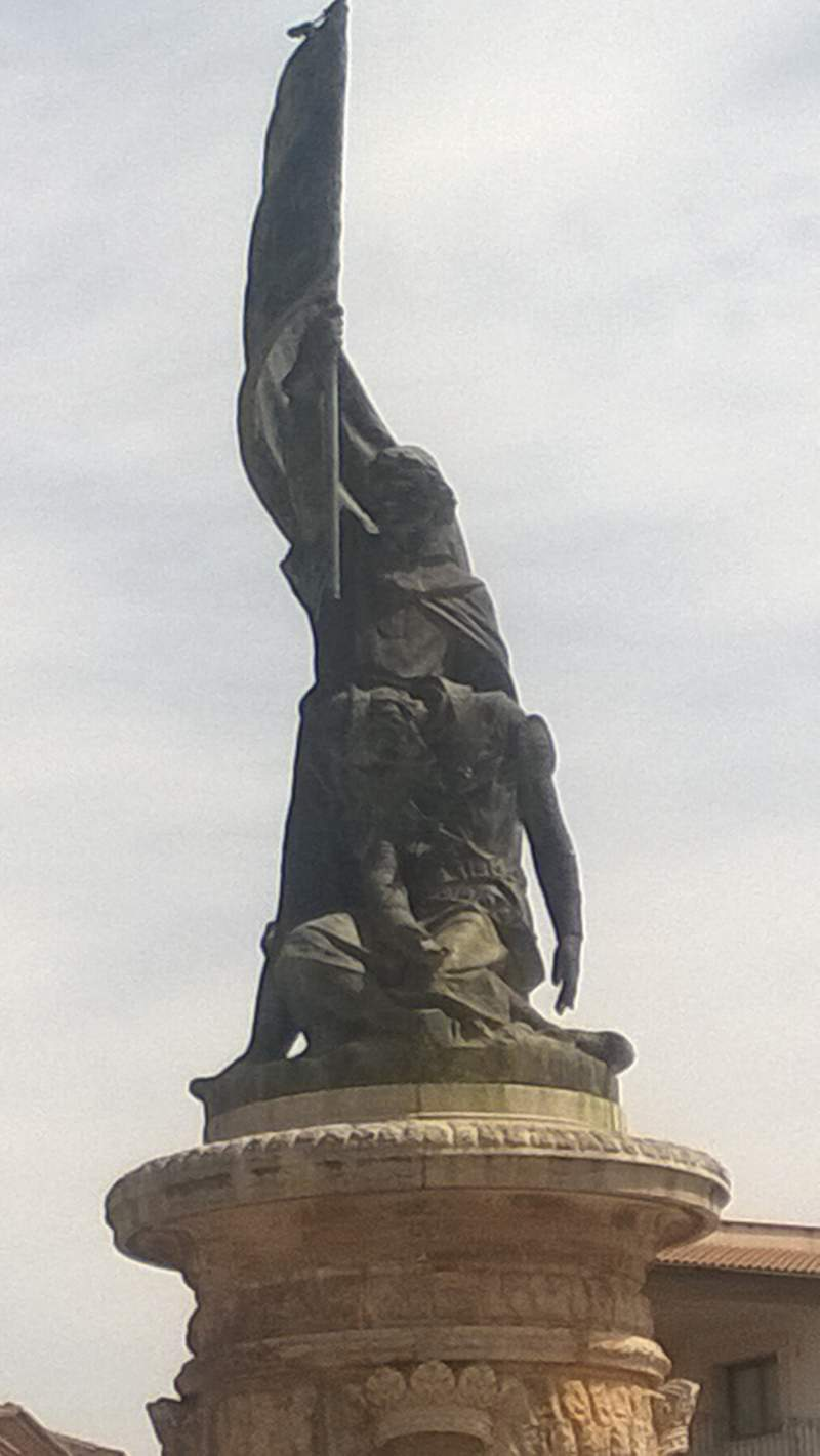 Kong Jaume III monumentet i LLucmajor symboliserer kongeriget Mallorcas fald
